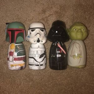 Star Wars body wash figure-ins set of 4